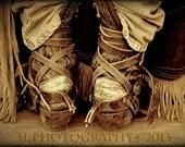 Cowboy Boots Fine Art Photography Print, Western Art, Rustic Home Decor, Rodeo, Sepia