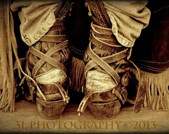 Cowboy Boots Fine Art Photography Print, Western Art, Rustic Home Decor, Rodeo, Sepia