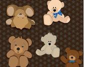 Teddy Bear Clip Art High Res Graphic Digital Scrapbooking