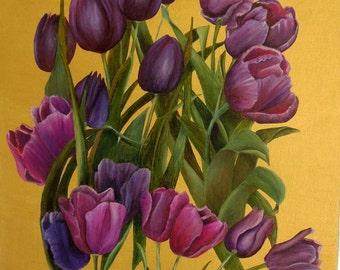 Windblown Tulips