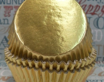 XOXO SALE 100 Gold Foil Cupcake Liners,  Gold Foil Baking Cups - Professional Grade and Greaseproof