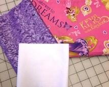 Gateway to Dreams - Disney Princess Pillowcase Kit - all three pieces of fabric needed to sew a customized pillowcase