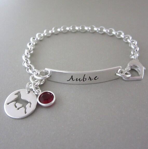 Childrens Charm Bracelet: Sterling Silver Charm Bracelet Child Bracelet By ShinyMetals