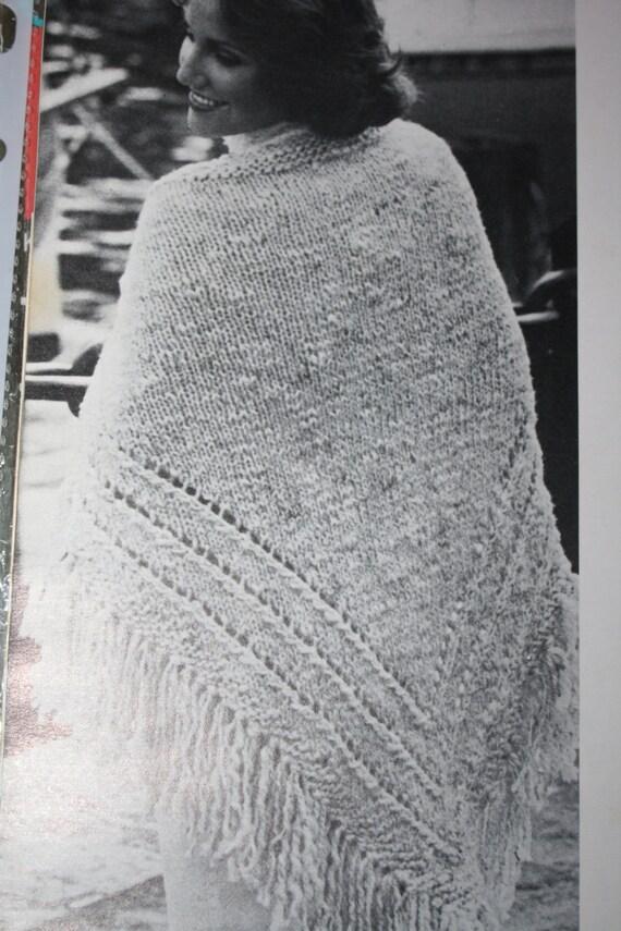 Knitting Pattern Vintage Shawl Pattern Knitting Chunky Bulky From Rawfiberartsco On Etsy Studio