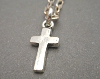 Sterling Silver Mens Cross Necklace - Cross Pendant - Mens Jewelry - Christian Necklace - Religious Jewelry - Cross Jewelry - Thick Cross
