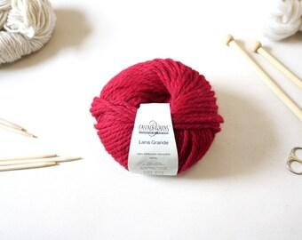 Deep Maroon Merino Wool, two balls of ultra soft and machine washable wool