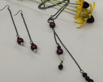 SJ  Necklace & Earrings Set