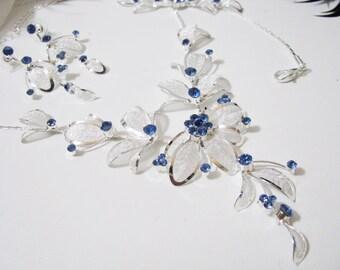 3 piece set Wedding Necklace Backdrop Necklace Bridal Necklace - Bridal Jewelry - Wedding Necklace - bridal set- Backdrop Bridal Necklace