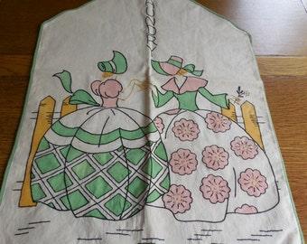 Darling Vintage Laundry Bag Hanger Large Southern Belle Emb. Tinting Vogart?