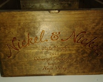 Nickel and Nickel / Wine Crate/ Napa Valley / Wedding Display / Wedding Decor/Wedding Card Holder/ Magazine Holder