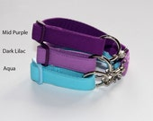 Plain Cotton - Coordinating  ID / Tag / House Collars - Easy On/Off for use with Shadedmoon Martingales or as a house collar to carry I.D.
