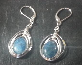 Apatite Earrings Sterling Silver