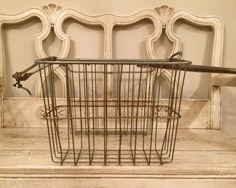 Vintage Wire Double Bike Basket - Rear Twin Saddle Style Bike Basket