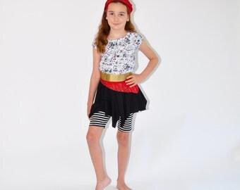 Girls Pirate Costume Sample Sale six piece set size 8