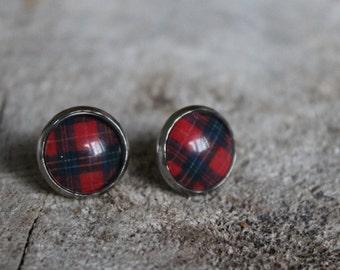 Petites merveilles carreauté rouge et noir  (BO-1116)