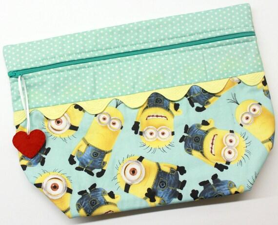 Lil' Big Bottom I Love Minions Cross Stitch Embroidery Bag