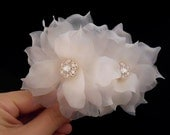Swarovski Bridal Hair Flower, Wedding Hair Flower, Bridal Hair Piece, Wedding Hair Piece, Bridal Hair Accessories, Pure Silk Flower Hairpins