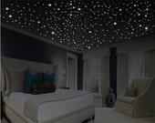 Glow in the Dark Stars / Romantic Bedroom Decor / Romantic Gift / Romantic Wall Decal / Anniversary Gift / Ceiling Stars / OVER 1000 stars!