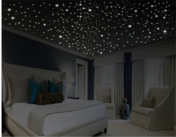Glow In The Dark Stars Romantic Bedroom Decor By