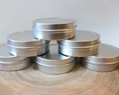 2oz (40ct)  Cosmetic Empty Tins, Slip Top Lid (FREE SHIPPING) ETSY