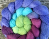 Hand Dyed Roving, Hand painted roving, Falkland roving, Spinning Fiber, Wool Roving