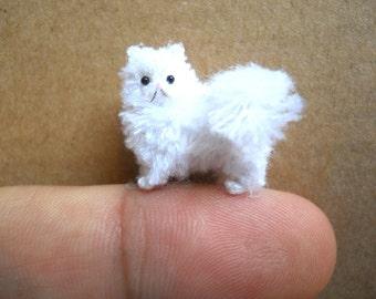 Miniature Persian Cat - Micro Crochet Amigurumi Stuffed Animal - Made to Order