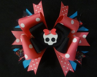 Monster High bow, large 5 inch boutique hairbow