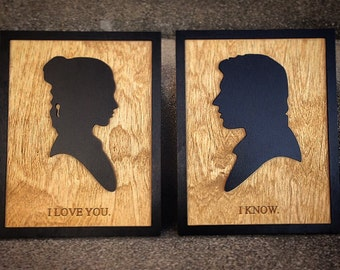 Star Wars Han Solo and Princess Leia movie quote Wall Art