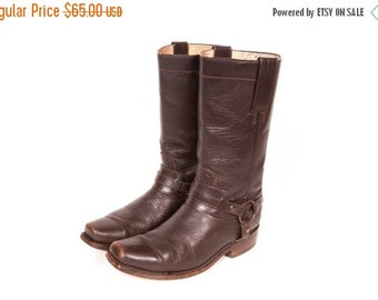 30% OFF Brown Motorcycle Harness Boots Women's Size 7 .5