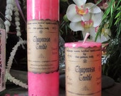 Chuparosa Candles - Sequoia Moon Herbal Spell Candles - Ritual Candles, Pink Spell Candles, Love Altar Candle, Witchcraft Supplies