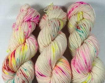 Trevor Morgan DK, Hand Dyed Yarn, DK weight, Superwash Merino, Number 3, 8 ply, Hand dyed, Light Worsted, 100g,Roller Rink