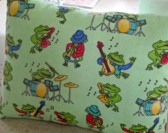 Musical Frogs Travel Baby Toddler Pillow Small Day Care Nap