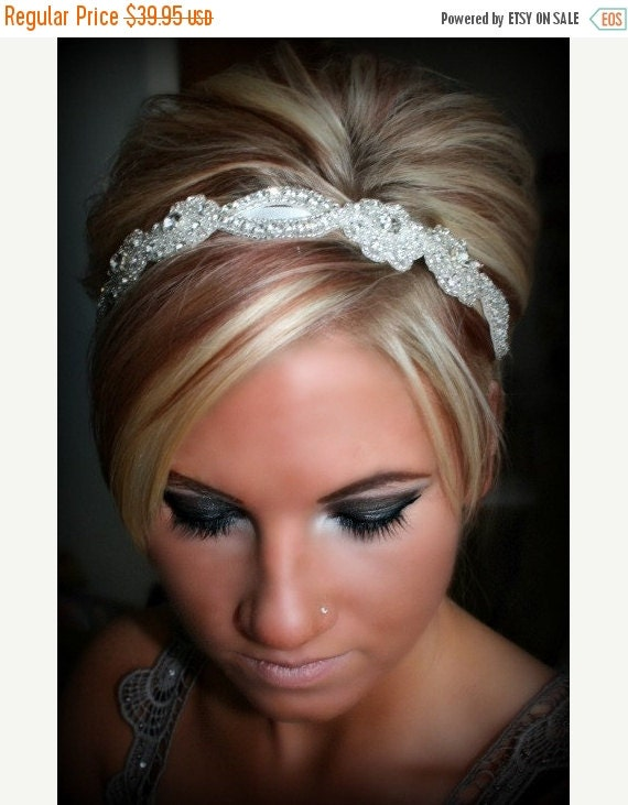 ON SALE SWEETHEART- Bridal Rhinestone Headband, Wedding, Bridal, Hair Accessories, Bridal Accessories, Wedding Headband