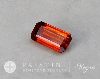 Spessartite Garnet Emerald Cut Large Fine Gemstone for Jewelry January Birthstone