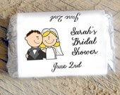 Bride Cartoon Candy Bar Wrappers for Bridal Shower ~ Wedding ~ Rehearsal Dinner Favors Candy Wrappers Mini Chocolate Wrappers