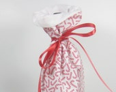 Candy Cane Wine Gift Bag