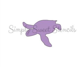 Sea Turtle Stencil