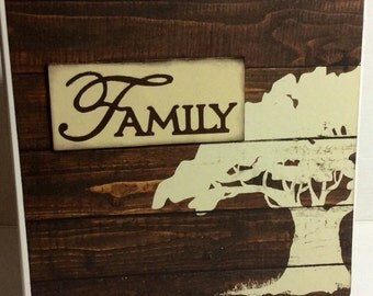 Family scrapbook premade pages chipboard book- 8 x 8 heritage