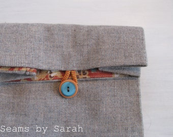 Wool Cloth lunch bag // Linen Lining // Re-usable lunch sack