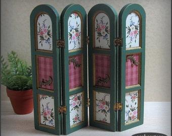 Dollhouse screen, room divider, twelfth scale dollhouse miniature furniture