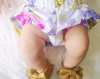 Baby Floral Baby Girl Bloomer Shorties