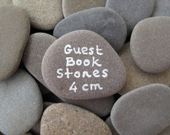 80 Flat Rocks Wedding Stones Guest Book Stones Flat Stones Wish Stones Message Stones Memorial Rocks Diy Craft Stones to Paint - 1.5 inch