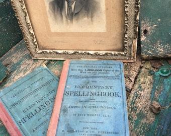 Antique spelling books  copyright 1880 set