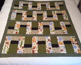 Unfinished Baby Quilt Top - At the Zoo