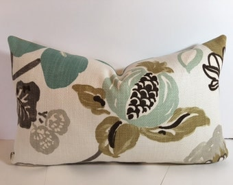 Gorgeous Pearl Modern Floral Pillow Cover, Sham, Valance