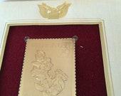 Minerals Copper Commemorative Gold Plated Stamp Sept. 17th 1992