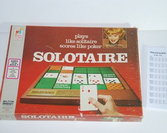 Game 0149 Endorsed by Lucille Ball Solotaire Solotaire Card Game Plays Like Poker