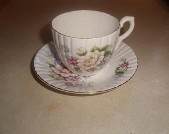 vintage bone china tea cup saucer set royal sutherland made england