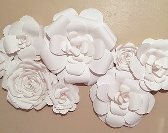 Wall Decor Flowers paper flower wall | etsy
