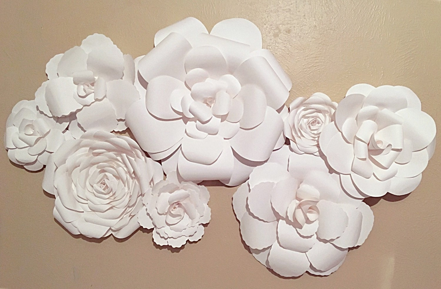Wall Decor White Flowers : Ft white flower backdrop wall paper floral